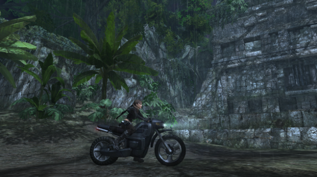 The bike is used an an extra tool rather than in a poor chase sequence like in Legend.