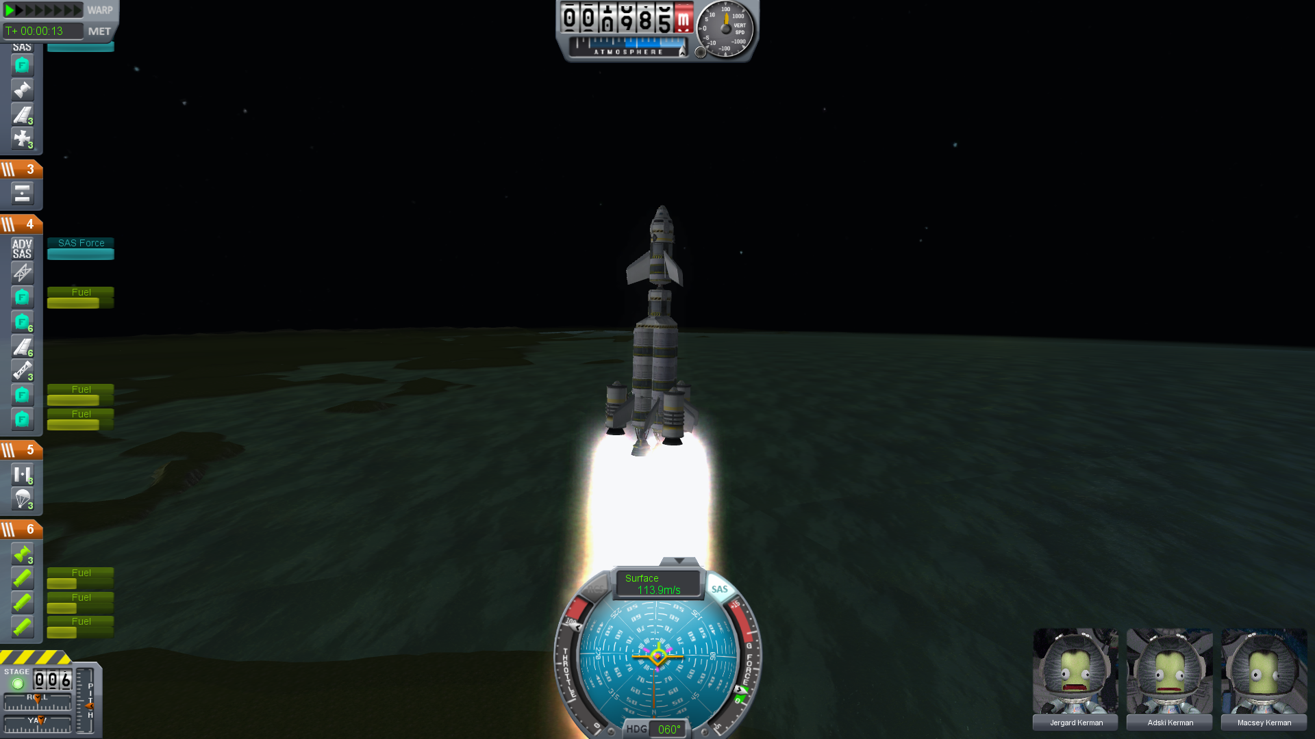Orbit, it's like falling, but you miss the ground: Kerbal